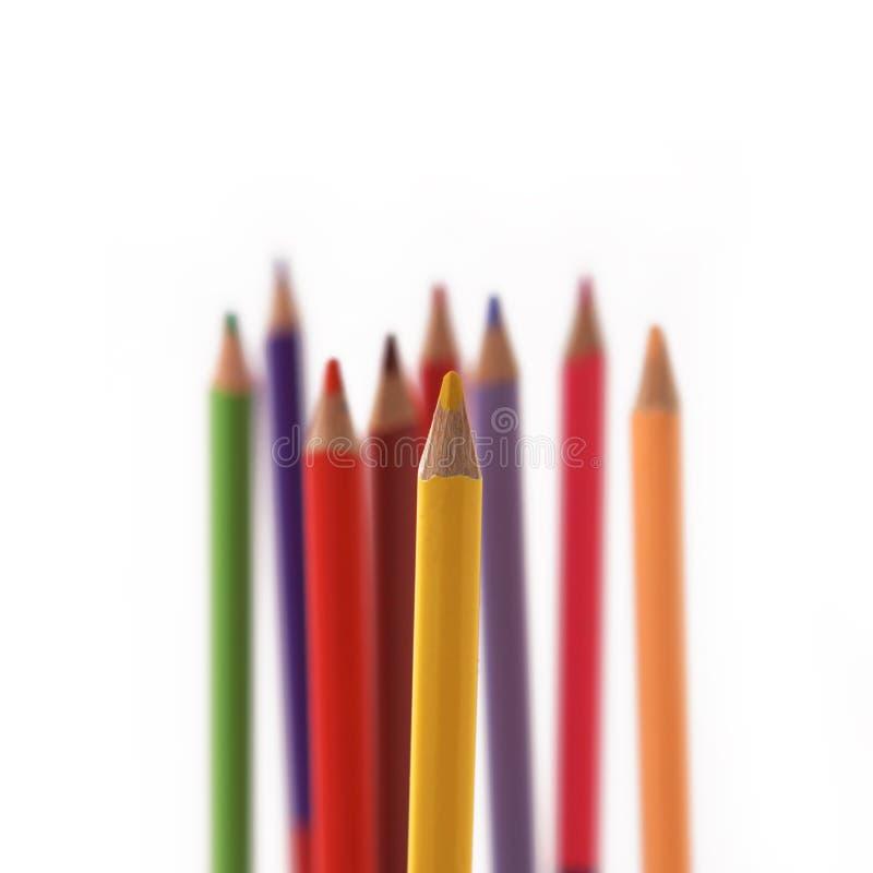 Μολύβια χρώματος στο άσπρο υπόβαθρο στοκ φωτογραφία