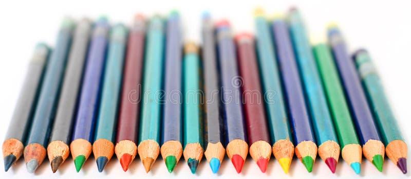 Μολύβια χρώματος στοκ φωτογραφίες με δικαίωμα ελεύθερης χρήσης