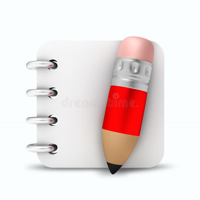 Μολύβι βιβλίων σημειώσεων στοκ εικόνα με δικαίωμα ελεύθερης χρήσης