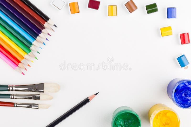 Μολύβι και χρώμα στοκ φωτογραφία με δικαίωμα ελεύθερης χρήσης