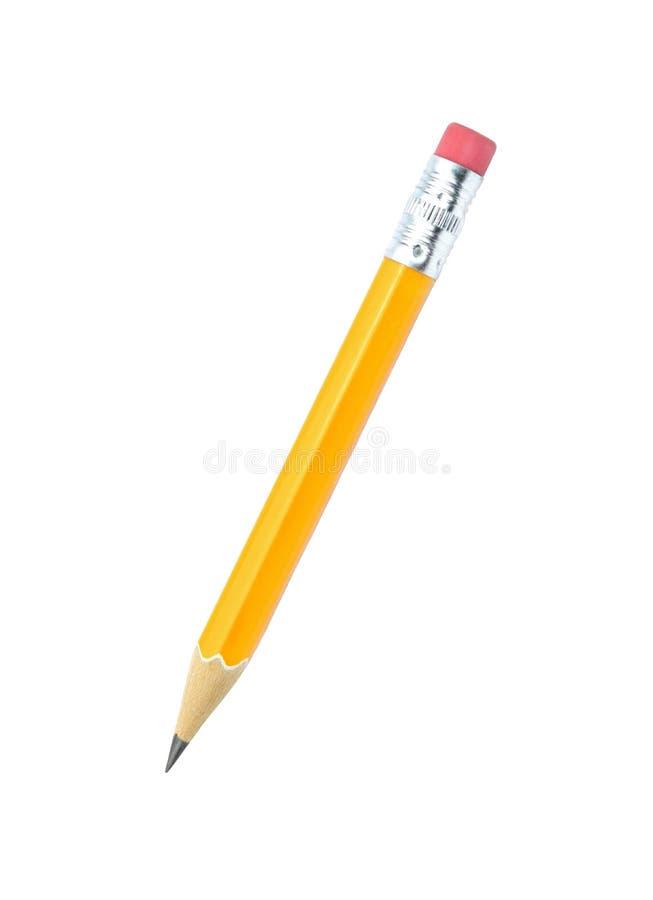 Μολύβι μολύβδου που απομονώνεται στο άσπρο υπόβαθρο στοκ εικόνα