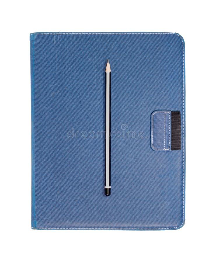 μολύβι σημειώσεων βιβλίω& στοκ εικόνα