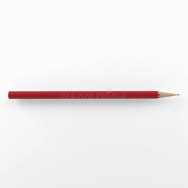Μολύβι στο καθαρό άσπρο υπόβαθρο τρισδιάστατος δώστε απεικόνιση αποθεμάτων
