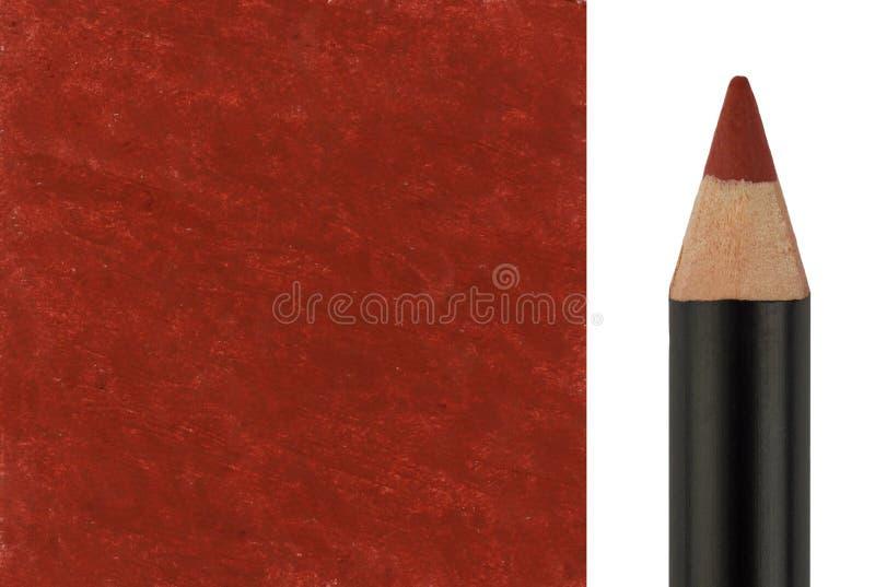 Μολύβι Makeup με το κτύπημα δειγμάτων Στοκ Εικόνες
