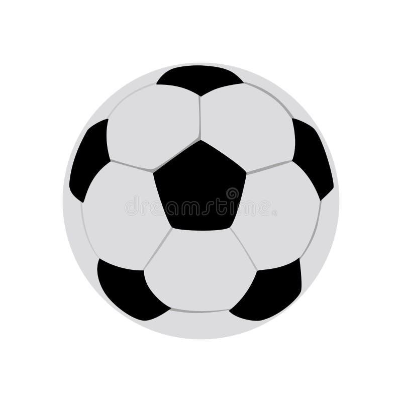 Μπάλα ποδοσφαίρου διανύσματος απομονωμένη σε λευκό φόντο Μπάλα ποδοσφαίρου έντασης Ασπρόμαυρα εξάγωνα συνδυασμένα σε στρογγυλή σφ απεικόνιση αποθεμάτων