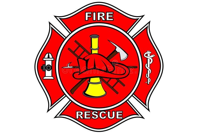 μπάλωμα εθελοντών πυροσβεστών διανυσματική απεικόνιση