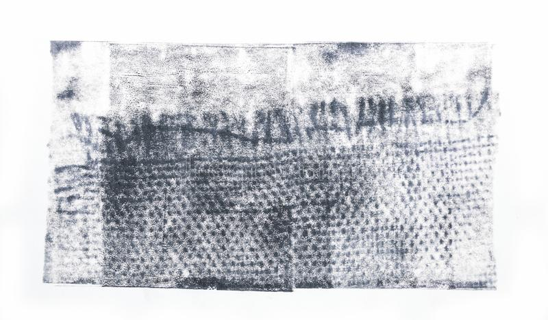 Μπάλωμα σύστασης υφάσματος Stainy που απομονώνεται στο άσπρο υπόβαθρο ελεύθερη απεικόνιση δικαιώματος