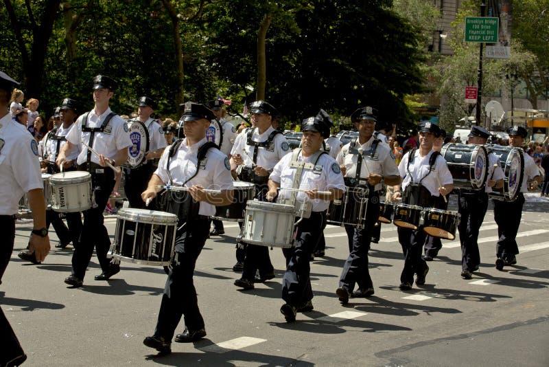 Μπάντα Αστυνομίας πόλεων της Νέας Υόρκης στοκ εικόνα με δικαίωμα ελεύθερης χρήσης