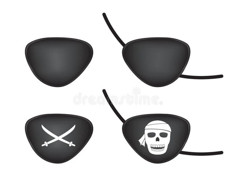 Μπάλωμα ματιών πειρατών απεικόνιση αποθεμάτων