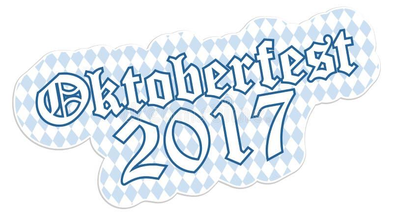 Μπάλωμα με το κείμενο Oktoberfest 2017 ελεύθερη απεικόνιση δικαιώματος