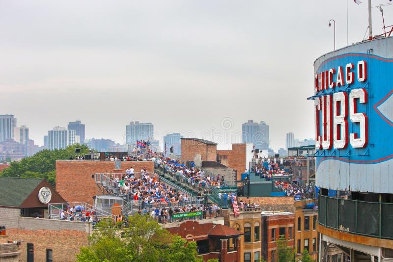 μπέιζ-μπώλ Σικάγο στοκ εικόνα με δικαίωμα ελεύθερης χρήσης