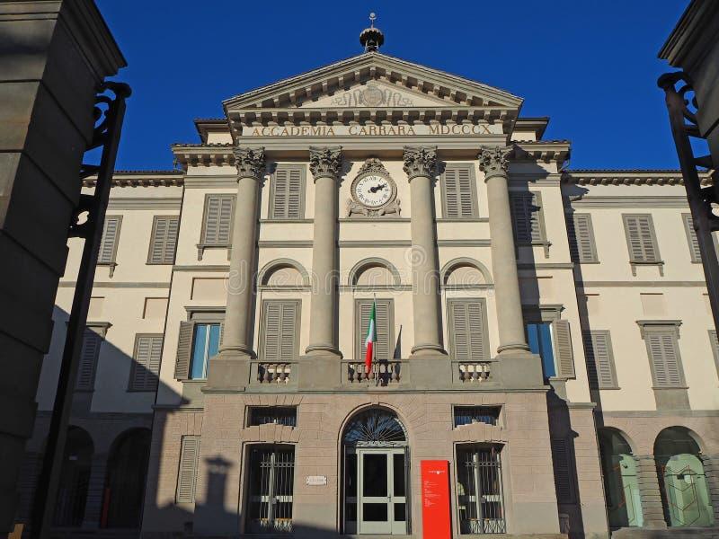 Μπέργκαμο Ιταλία Το γκαλερί τέχνης και η ακαδημία των Καλών Τεχνών ονόμασαν Accademia Καρράρα στοκ φωτογραφίες
