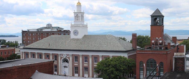 Μπέρλινγκτον Βερμόντ Δημαρχείο στοκ φωτογραφία με δικαίωμα ελεύθερης χρήσης