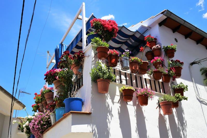 Μπαλκόνι Cazorla ένα χωριό της επαρχίας του Jae'n στην Ανδαλουσία στοκ εικόνες