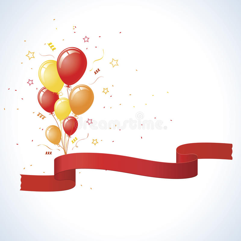 μπαλονιών κόκκινος κίτριν&omi ελεύθερη απεικόνιση δικαιώματος