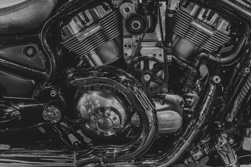 Μπαλτάδων εκλεκτής ποιότητας αναδρομικό ύφος τεχνών μοτοσικλετών μηχ στοκ φωτογραφία με δικαίωμα ελεύθερης χρήσης