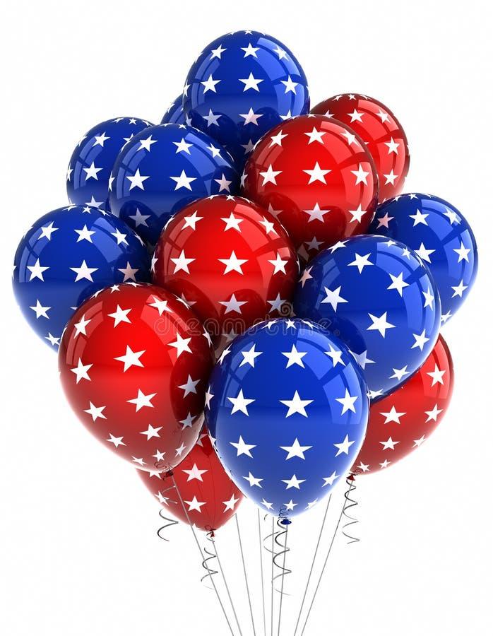 μπαλόνια πατριωτικά διανυσματική απεικόνιση