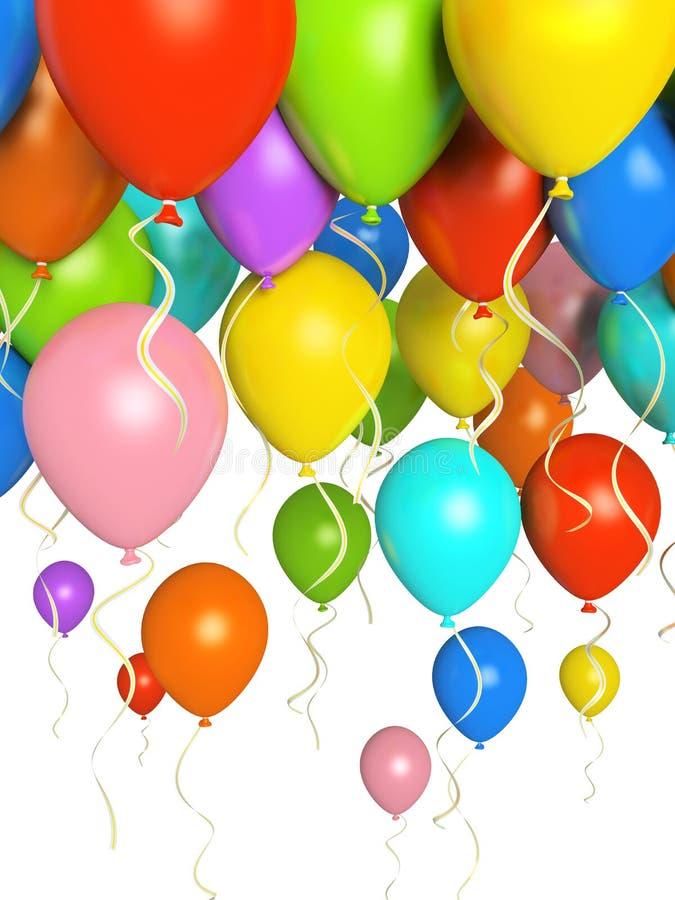 μπαλόνια colourfull απεικόνιση αποθεμάτων