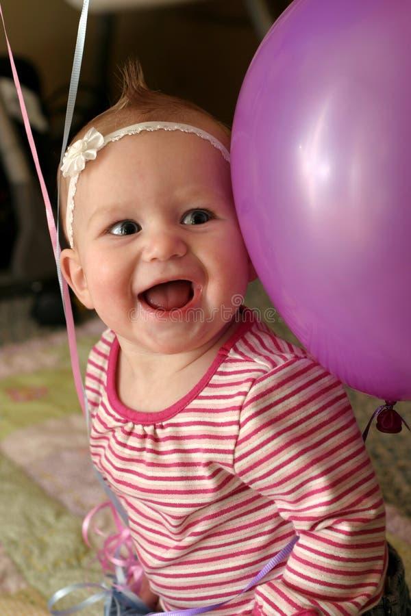 μπαλόνι μωρών ευτυχές στοκ φωτογραφίες
