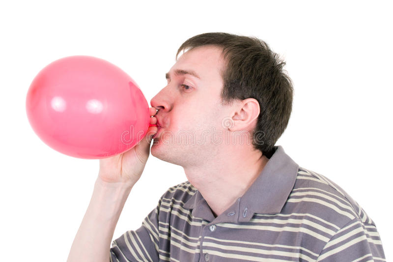 μπαλόνι που διογκώνει το  στοκ φωτογραφία με δικαίωμα ελεύθερης χρήσης