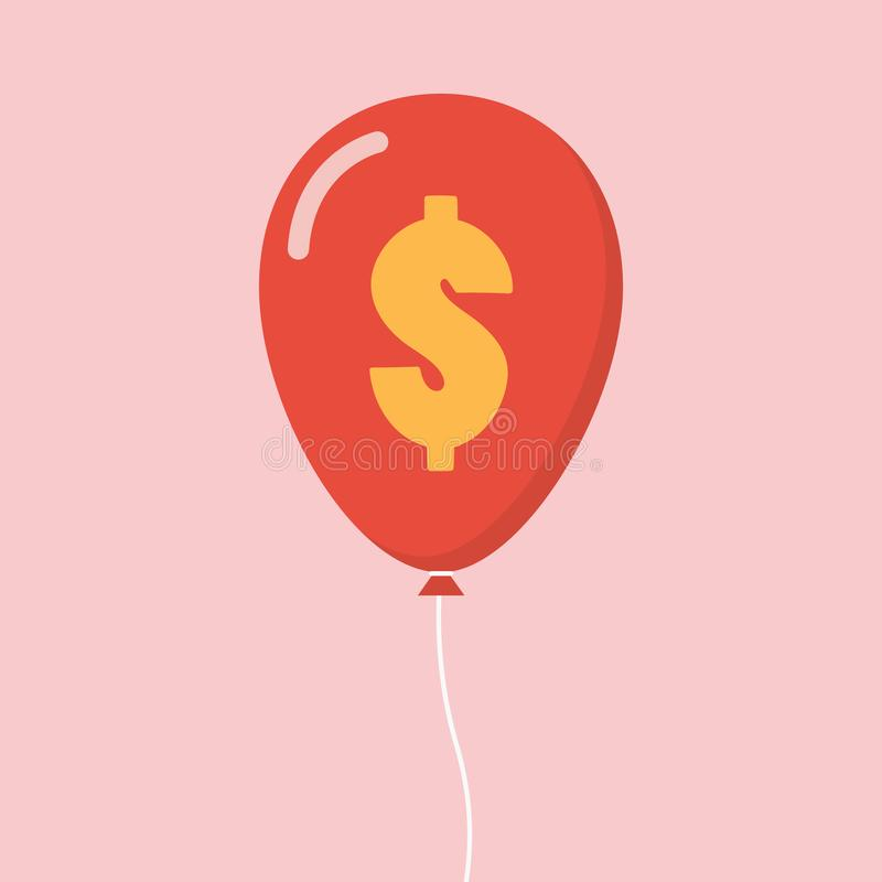 Μπαλόνι σημαδιών δολαρίων ελεύθερη απεικόνιση δικαιώματος