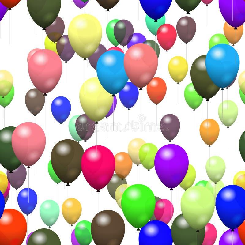 Μπαλόνι σύστασης στο λευκό ελεύθερη απεικόνιση δικαιώματος
