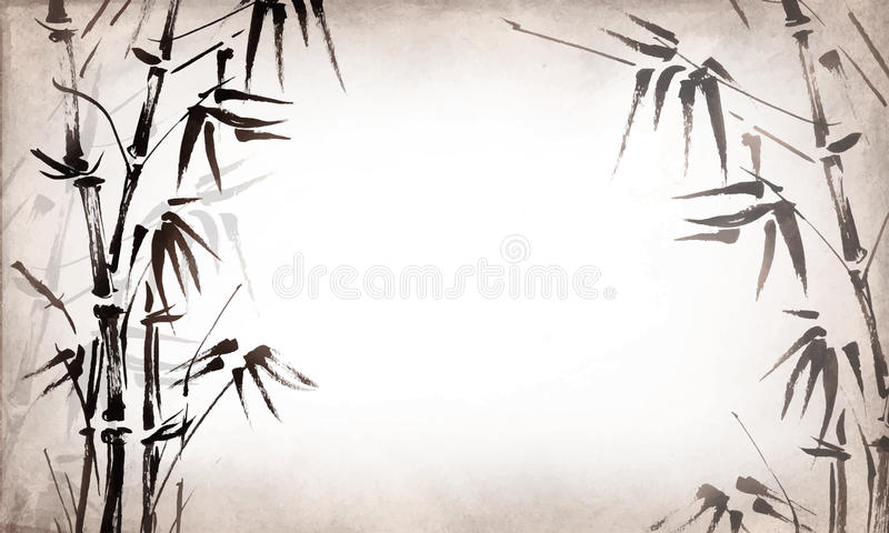 Μπαμπού που χρωματίζεται στο της υφής οριζόντιο υπόβαθρο grunge διάνυσμα απεικόνιση αποθεμάτων