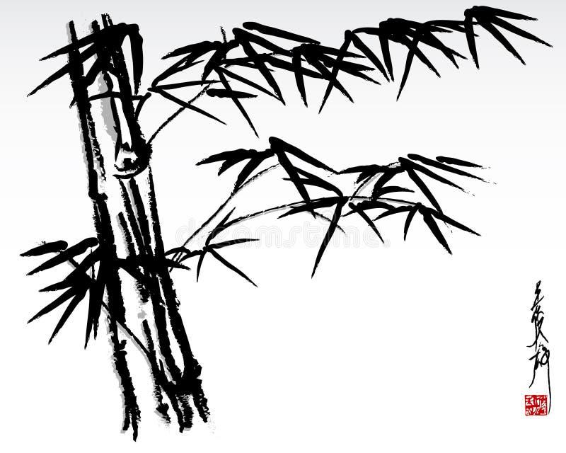 μπαμπού 3 διανυσματική απεικόνιση