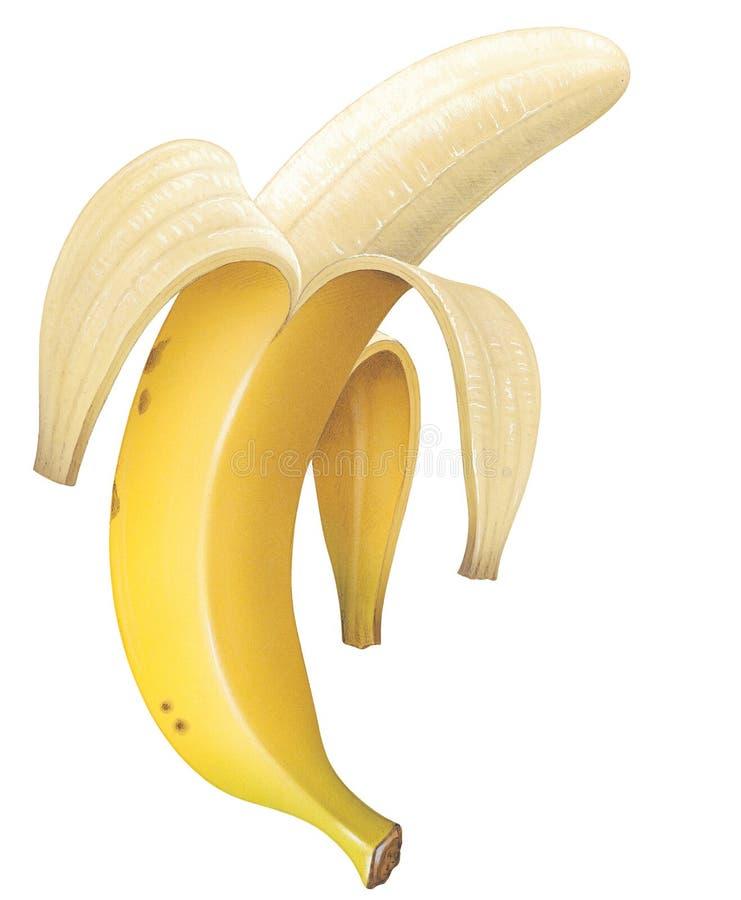 μπανάνα που ξεφλουδίζετ&al απεικόνιση αποθεμάτων