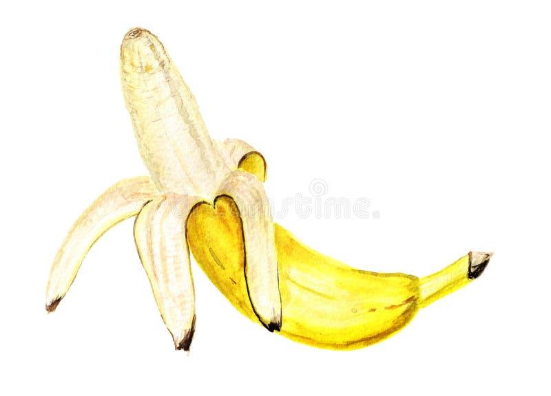 μπανάνα που ξεφλουδίζεται απεικόνιση αποθεμάτων