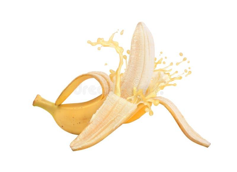 Μπανάνες με χυμό μπανάνας στοκ εικόνες