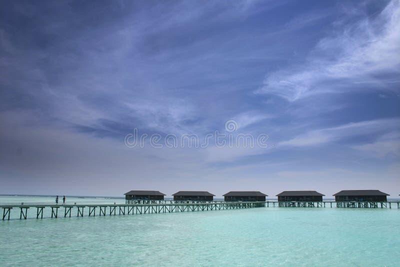 μπανγκαλόου πέρα από το ύδωρ στοκ φωτογραφία με δικαίωμα ελεύθερης χρήσης