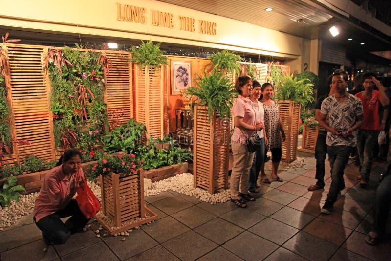 ΜΠΑΝΓΚΟΚ - ΣΤΙΣ 5 ΔΕΚΕΜΒΡΊΟΥ: Εορτασμός γενεθλίων βασιλιά - Ταϊλάνδη 2010 στοκ φωτογραφίες