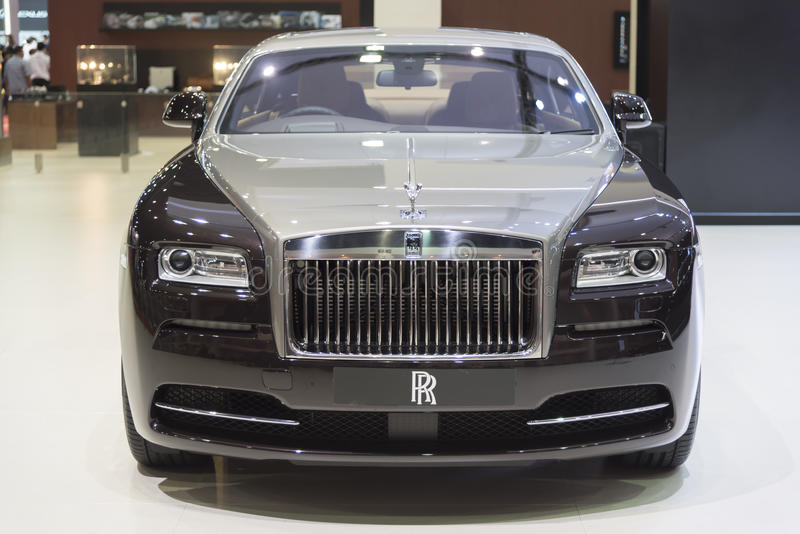 ΜΠΑΝΓΚΟΚ, ΤΑΪΛΑΝΔΗ - 4 ΑΠΡΙΛΊΟΥ: Νέο κλασσικό εμπορικό σήμα Rolls-$l*royce αυτοκινήτων στοκ φωτογραφία με δικαίωμα ελεύθερης χρήσης
