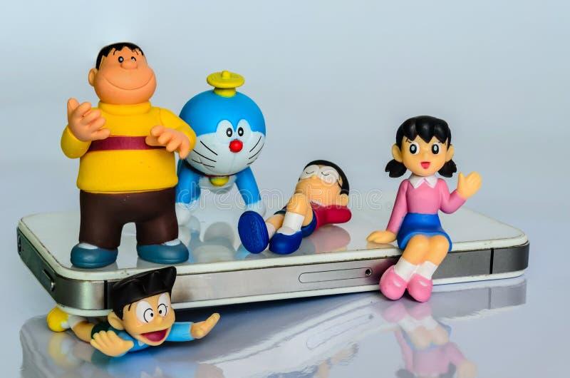 ΜΠΑΝΓΚΟΚ, ΤΑΪΛΑΝΔΗ - 29 ΙΟΥΝΊΟΥ 2014: Ένα πρότυπο Doraemon στη Μπανγκόκ στοκ φωτογραφίες με δικαίωμα ελεύθερης χρήσης