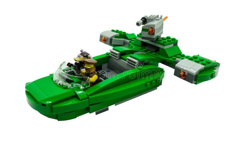 Μπανγκόκ, δράστες Lego starwars στον κινηματογράφο starwars στο διαστημικό shi στοκ εικόνες