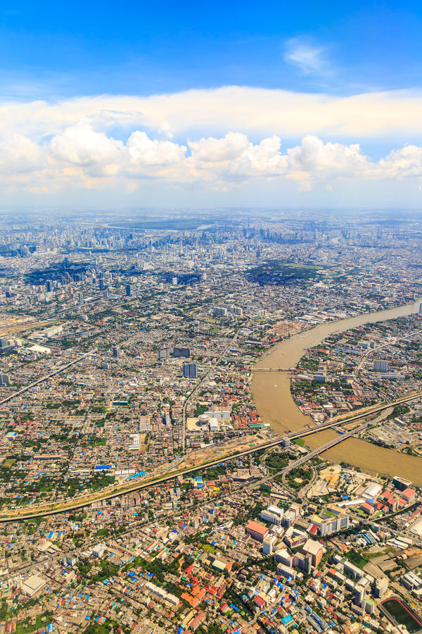 Μπανγκόκ επάνω ανωτέρω στοκ φωτογραφία με δικαίωμα ελεύθερης χρήσης
