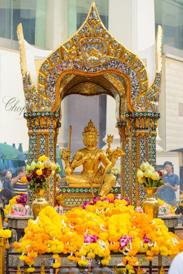 Μπανγκόκ, Ταϊλάνδη - 27 Ιανουαρίου 2018: Η λάρνακα Erawan στη Μπανγκόκ Η Thao Maha Phrom Shrine είναι η ινδή λάρνακα στη Μπανγκόκ στοκ φωτογραφία με δικαίωμα ελεύθερης χρήσης