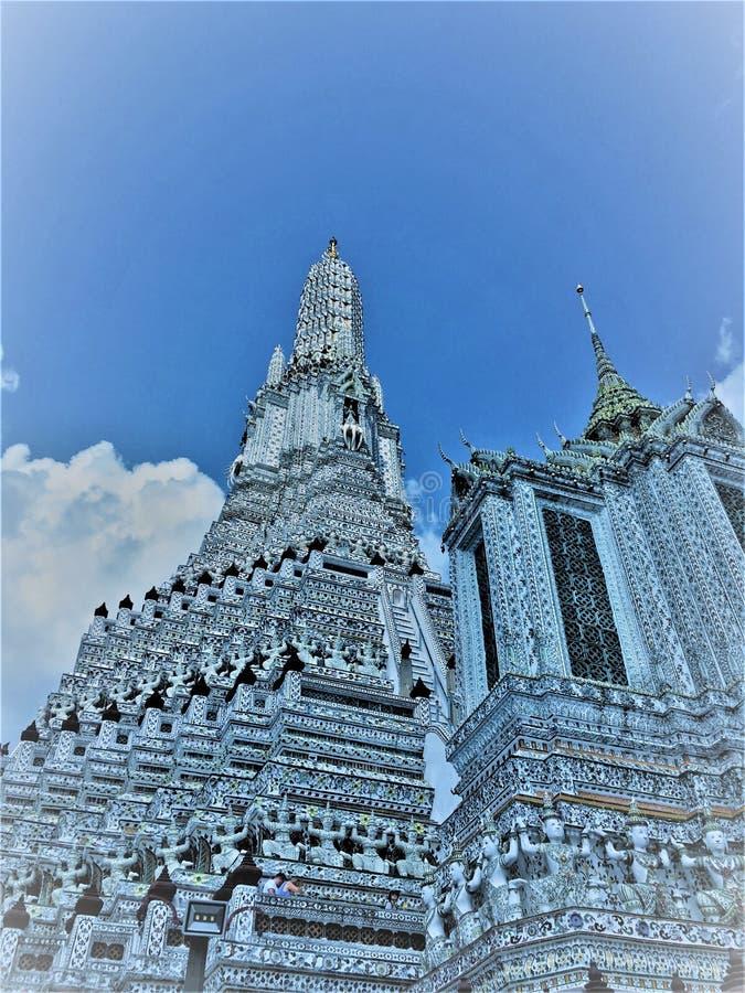 Μπανγκόκ, Ταϊλάνδη, 27,2019 Μαΐου: Το διάσημο Wat Arun Ratchawararam είναι ένας βουδιστικός ναός wat Διακοσμείται από τα κομμάτια στοκ εικόνες