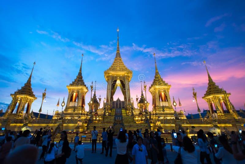 Μπανγκόκ, Ταϊλάνδη - 4 Νοεμβρίου 2017: Το βασιλικό κρεματόριο του βασιλιά στοκ φωτογραφίες