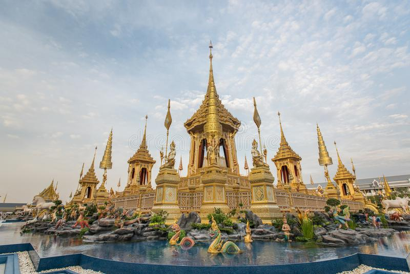 Μπανγκόκ, Ταϊλάνδη - 4 Νοεμβρίου 2017: Το βασιλικό κρεματόριο του βασιλιά στοκ εικόνα με δικαίωμα ελεύθερης χρήσης