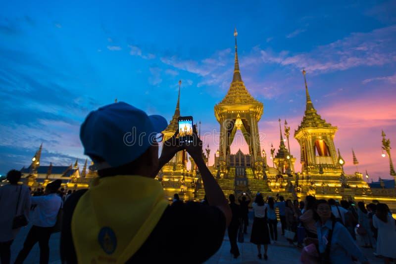 Μπανγκόκ, Ταϊλάνδη - 4 Νοεμβρίου 2017: Το βασιλικό κρεματόριο του βασιλιά στοκ εικόνες με δικαίωμα ελεύθερης χρήσης