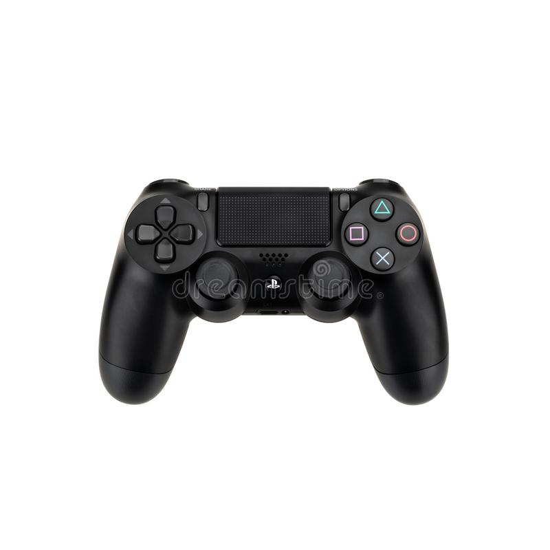 Μπανγκόκ, Ταϊλάνδη - 30 Σεπτεμβρίου 2018: Sony Playstation 4 ` s DualShock 4 ασύρματος ελεγκτής που απομονώνεται στο άσπρο υπόβαθ στοκ φωτογραφία με δικαίωμα ελεύθερης χρήσης