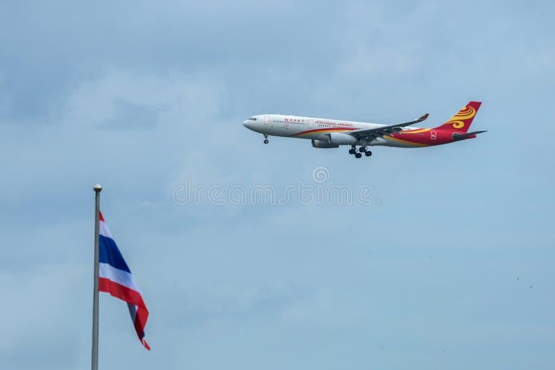 Μπανγκόκ, Ταϊλάνδη, στις 12 Αυγούστου 2018: Κανονισμός αερογραμμών Χονγκ Κονγκ Αριθ. Β στοκ φωτογραφία με δικαίωμα ελεύθερης χρήσης