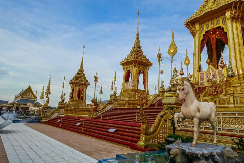 Μπανγκόκ, Ταϊλάνδη: Στις 29 Νοεμβρίου 2017, το βασιλικό κρεματόριο για Α.Μ. βασιλιάς Bhumibol Adulyadej σε Sanum Luang στοκ φωτογραφίες