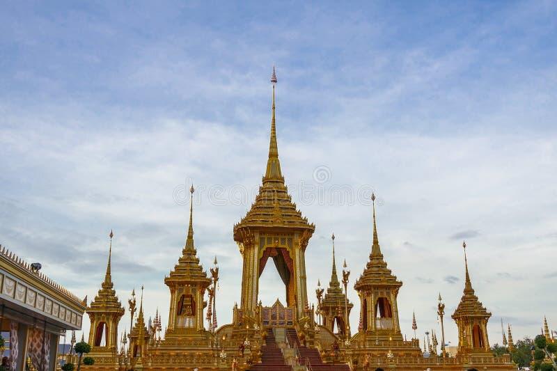Μπανγκόκ, Ταϊλάνδη: Στις 29 Νοεμβρίου 2017, το βασιλικό κρεματόριο για Α.Μ. βασιλιάς Bhumibol Adulyadej σε Sanum Luang στοκ φωτογραφία με δικαίωμα ελεύθερης χρήσης