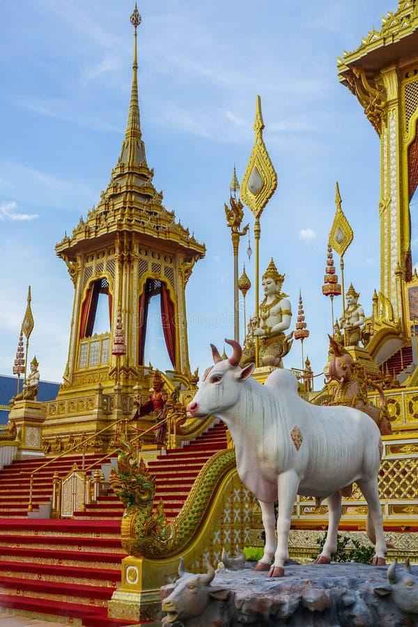 Μπανγκόκ, Ταϊλάνδη: Στις 29 Νοεμβρίου 2017, το βασιλικό κρεματόριο για Α.Μ. βασιλιάς Bhumibol Adulyadej σε Sanum Luang στοκ εικόνες με δικαίωμα ελεύθερης χρήσης
