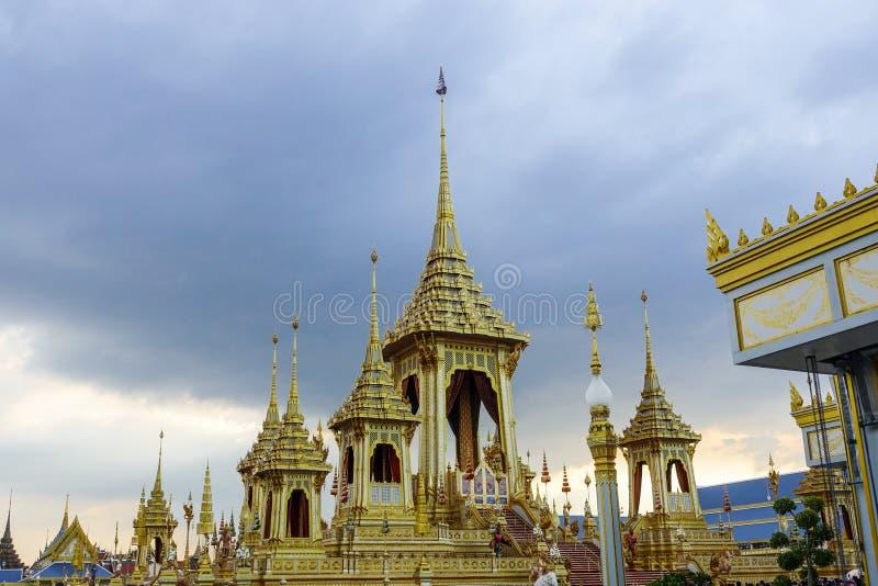 Μπανγκόκ, Ταϊλάνδη: Στις 29 Νοεμβρίου 2017, το βασιλικό κρεματόριο για Α.Μ. βασιλιάς Bhumibol Adulyadej σε Sanum Luang στοκ φωτογραφία