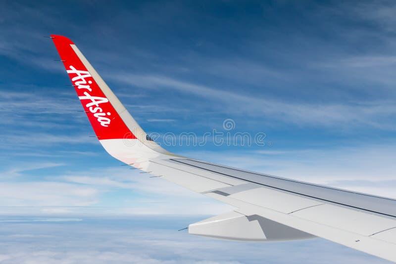 Μπανγκόκ, Ταϊλάνδη - 25 Ιουνίου 2016: Ταϊλανδικό πνεύμα φτερών αεροπλάνων ` s AirAsia στοκ εικόνες