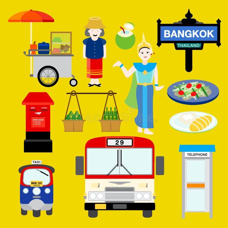 Μπανγκόκ διανυσματική απεικόνιση